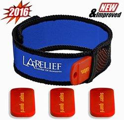 la'-Relief Premium Mosquito Repellent Bracelet - Red/Blue