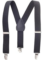 Solid Color Children's Wide Elastic Suspenders - Size: 1""