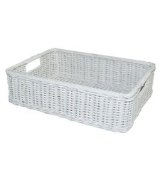 Pillowfort Rattan Folio Bin - White