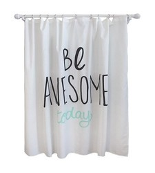 "Pillowfort 72"" x 72"" Be Awesome Shower Curtain"