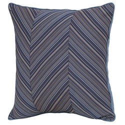 "Smith & Hawken 22""x22""x6"" Azure Polyester Outdoor Back Cushion - Deep Blue"