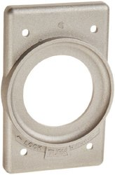 Hubbell Wiring Systems Hubbellock Cast Aluminum Wall Plate Cover