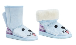 MUK LUKS Infant's Animal Puppy Pull-On Boots - Light Blue - Size: 8