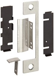 "HES Stainless Steel T Faceplate for 1006 Series Electric Strikes for Mortise Lockset with 1"" Deadbolt and Center-Lined Deadlatch, Satin Stainless Steel Finish"
