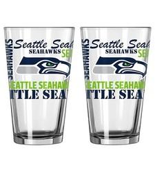 Boelter NFL 16 Oz. Spirit Pint Glass Set 2-Pack - Seattle Seahawks