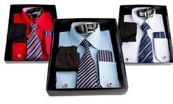 Berlioni Men's Dress Shirt - Light Blue - Size: X-large