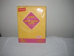 Pastel Paper Compatible with All Office Machines, Color: Dark Yellow, 500 sheets, 20 lbs