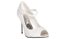 Riverberry Women's Peep Toe Mary Jane Stiletto Heels - White - Size: 7.5