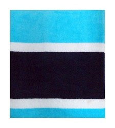 Evergreen Lounge Cover Beach Towel - Blue/Navy