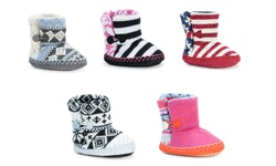Muk Luks Infant Booties: Houndstooth/infant 4