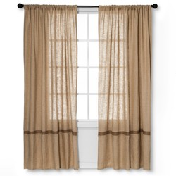 "Natural 84"" x 55"" homethreads Solid Curtain Panels - Multi-Colored"