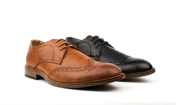 Vincent Cavallo Men's Dress Shoes - Wing Tip/Black - Size: 13