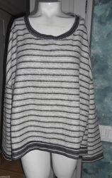 Free People Little Ann Striped Pullover - Black - Size: Medium