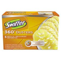 Swiffer 360 Dusters Refill Dust Lock Fiber - Yellow - 6 Pack