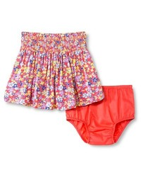 Oshkosh Baby Girl's Floral Mini Skirt - Coral - Size: 18 Month
