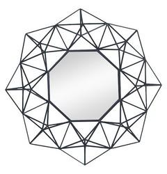 Nate Berkus Geometric Mirror - Black - Size: Large