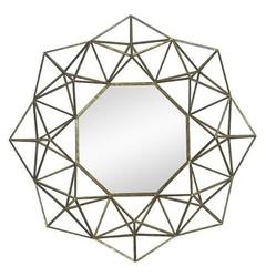 Nate Berkus Geometric Mirror - Gold - Size: Large