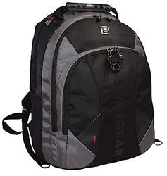 "Swiss Gear Pulsar 16"" Black/Grey Padded Laptop Backpack"