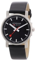 Mondaine Men's Quartz Evo Leather Band Watch - Black - Size: 35mm