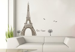 Art Appliques Tour Eiffel Tower Wall Decals