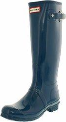 Hunter Womens' Rain Boot - Stripe-Damson-Dusty Petrol - Size: 6