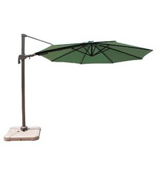 10' Offset Patio Umbrella w/Solar Lights - Green