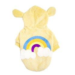 One Tail Four Paws One Tail Four Paws Rainbow Bear Ears Hoodie, Yellow, Medium