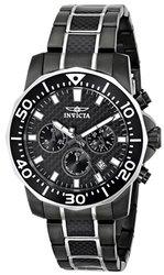 Ttv Invicta 45mm Carbon Diver Quartz Bracelet Watch W/1dc Gunmetal 45mm