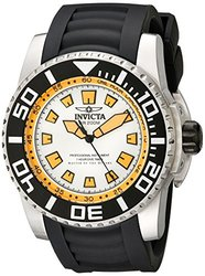 Invicta Men's Pro Diver Quartz Chrono Pu Strap Watch White Men's