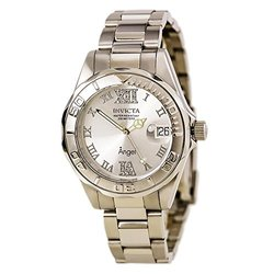 Invicta 14396 Women's Silver Tone Dial Steel Bracelet Dive Watch