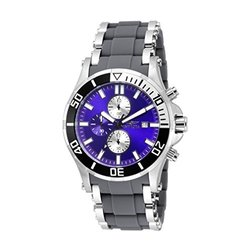 New Men's Invicta 17594 Sea Spider Chronograph Blue Dial Grey Strap Watch