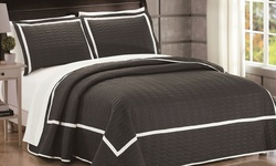 Ellery Quilt: Grey-queen/3-piece
