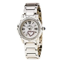 Invicta Angel Mother of Pearl Dial Stainless Steel Ladies Watch 18604