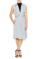 re:named Women's Sleeveless Trench Coat - Gray - Size: Small