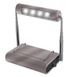 RiteLite LPL904RMTL Rechargeable 4 LED Micro Task Light, Silver