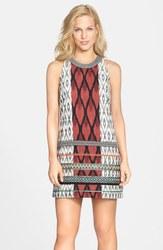 Nicole Miller - Jessi Tribal Mash Dress - Size: 12 - Brown