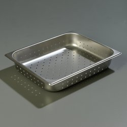 Carlisle 607122P Half-Size Perforated Food Pan 6-Case - Stainless Steel