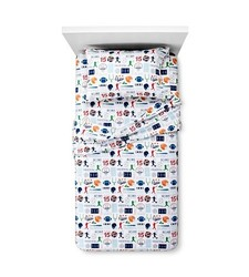 Circo Sports Zone Flannel Sheet 3 PC Set - Multicolor - Size: Toddler