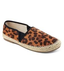 Crushin Girl's Leopard Print Slip On Espadrilles - Multi Color - Size: 13