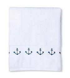 "Sabrina Soto Bath Towel - White/Navy - Size: 54"" x 30"""