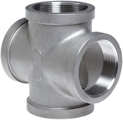 "Merit Brass Stainless Steel 304 Cast Pipe Fitting 4"" NPT Female"