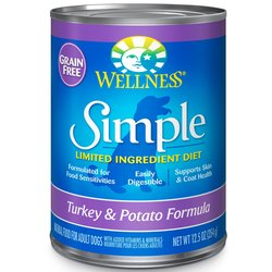 Wellness Simple Natural Wet Canned Limited Dog Food 12.5 Oz 12 Pks