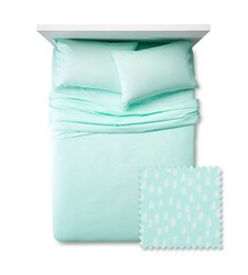 Pillowfort 3 Pc Mini Dots Sheet Set - Crystalized Green - Size: Queen
