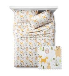 Pillowfort 3 Pc Woodland Whimsy Sheet Set - Multi - Size: Queen