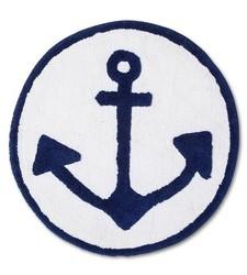 """Sabrina Soto Anchor Bath Rug - Navy - Size: 25"""" x 25"""""""