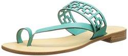 Trina Turk Women's Brentwood Toe-Ring Sandal - Aqua Suede - Size: 9.5
