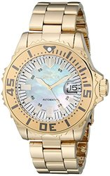 Invicta Watches Men's Pro Diver Automatic 18K Gold Plated Steel Bracelet
