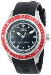 Invicta Men's Specialty Black Textured Dial Black Polyurethane