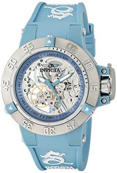 Women's Subaqua Mechanical Light Blue and White Silicone