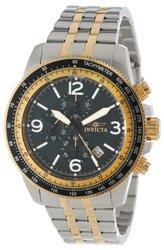 Invicta Men's Specialty Quartz Chrono Stainless Steel Bracelet Watch W/ 3dc Two-tone / Black Men's